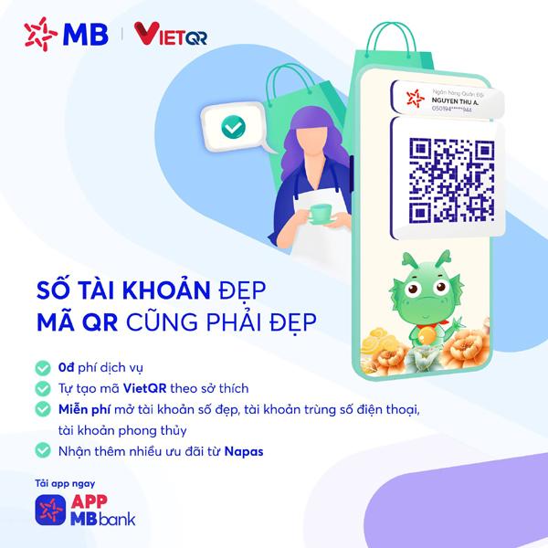 Ứng dụng MBBank: thanh toán 'trong tích tắc' với mã VietQR tự tạo