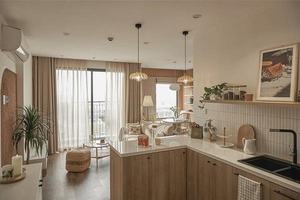 Thiết kế khéo léo, giúp căn hộ 59m2 mở rộng không gian