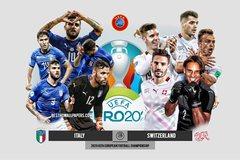 Italy 0-0 Thụy Sĩ: Đội hình siêu tấn công (H1)