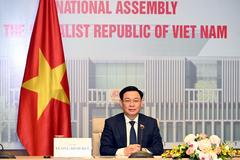 Chủ tịch Quốc hội hội đàm trực tuyến với Chủ tịch Nhân đại Trung Quốc