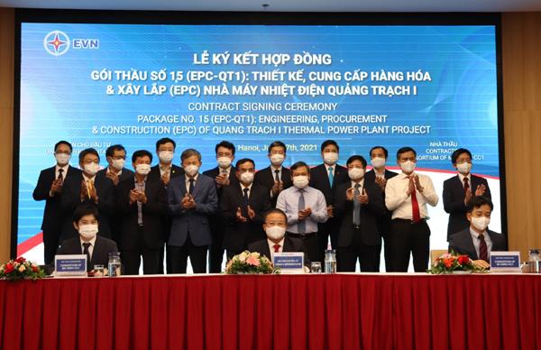 Ký hợp đồng thiết kế, xây lắp dự án nhà máy nhiệt điện Quảng Trạch 1