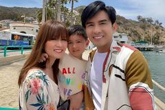 Vợ chồng Đan Trường và con trai đi du lịch ở đảo Catalina