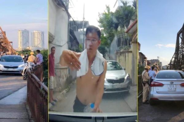 Lái xe ô tô say rượu gây náo loạn ở cầu Long Biên