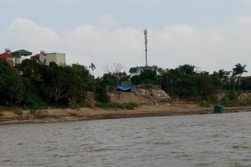 Hà Nội: San lấp trái phép, dựng rào sắt 'xẻ thịt' hành lang thoát lũ sông Hồng