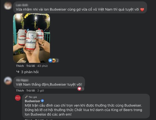 1 triệu lon bia Budweiser tặng fan mừng Việt Nam vào vòng loại cuối World Cup