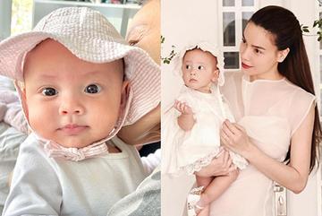Con gái 7 tháng tuổi xinh và điệu của Hà Hồ - Kim Lý