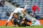 Croatia 0-0 CH Séc: Schick bị đổ máu vùng mặt (H1)
