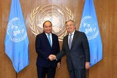 Chủ tịch nước điện đàm chúc mừng Tổng Thư ký Liên Hợp Quốc