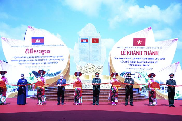 Khánh thành công trình hành trình cứu nước của ông Hun Sen ở Bình Phước