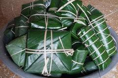 Bánh chưng nhân cá suối độc nhất vô nhị ở xứ Thanh