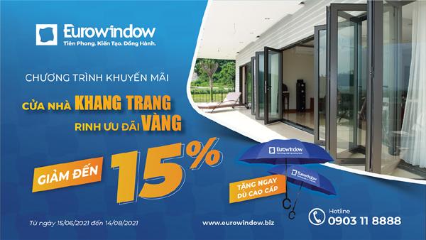 Eurowindow giảm tới 15% cho khách hàng phía Nam