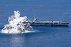 Xem Mỹ nổ mìn ngay cạnh tàu sân bay trị giá 13 tỷ USD