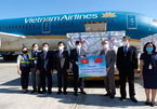 China-donated COVID-19 vaccines and syringes arrive at Noi Bai Airport