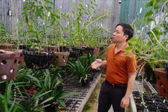 Vườn lan xanh mướt của 7X Hà Tĩnh