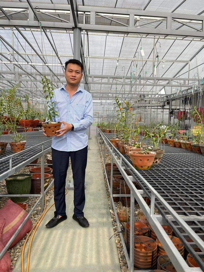 Vườn lan quý 450m2 nức tiếng đất Phú Thọ
