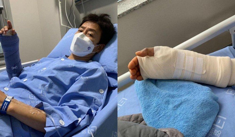 Tài tử 'Mối tình đầu' Choi Soo Jong bị chấn thương phải nhập viện