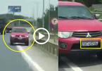 Ô tô chạy ngược chiều trên cao tốc, gây va quệt xong lại bỏ chạy tiếp
