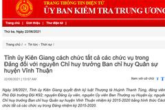 Tỉnh ủy Kiên Giang thi hành kỷ luật một Thượng tá quân đội