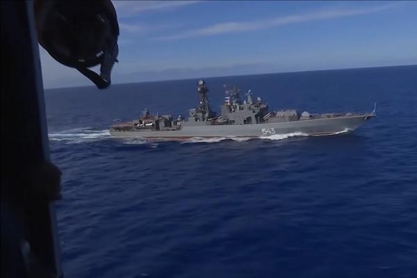 Xem tàu chiến, máy bay Nga tập trận lớn trên Thái Bình Dương