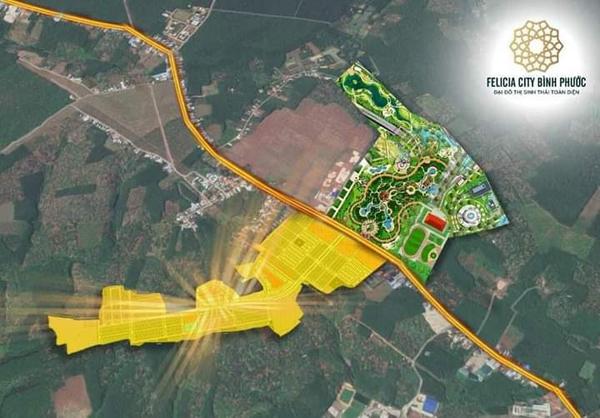Sức hút từ vị trí đắc địa của dự án Felicia City Bình Phước