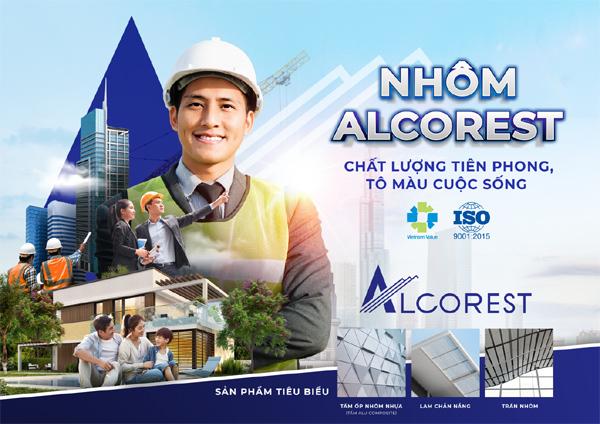 Nhôm Alcorest kiến tạo tiêu chuẩn mới cho chất lượng công trình Việt