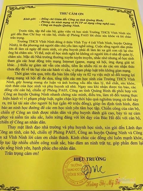 Công an Quảng Bình kịp thời chặn 2 vụ tống tiền học sinh trên mạng