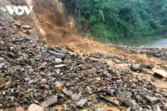 Mưa lớn gây ngập úng, sạt lở nhiều tuyến đường ở Lai Châu