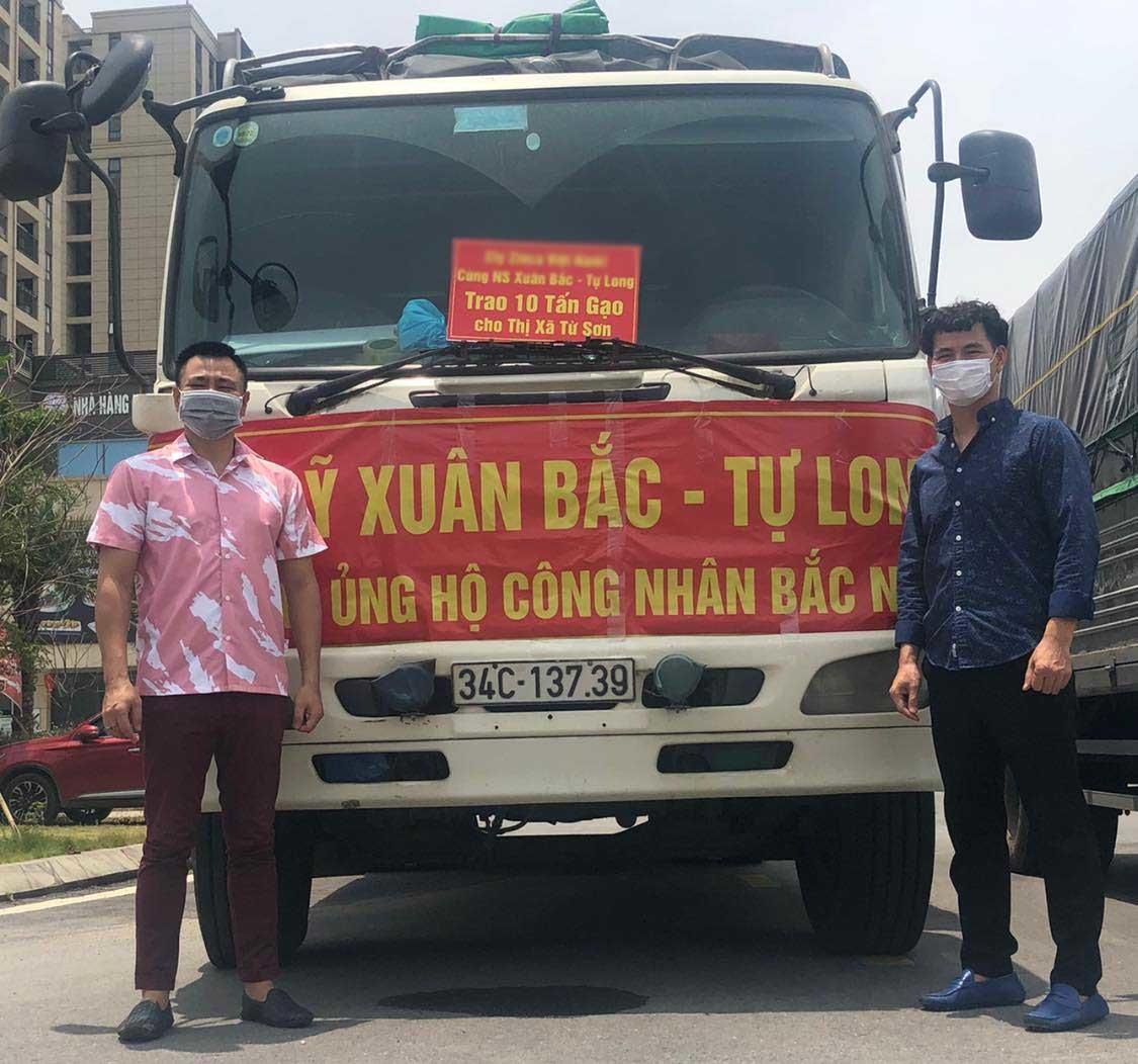Tự Long, Xuân Bắc ủng hộ 30 tấn gạo cho Bắc Ninh chống dịch