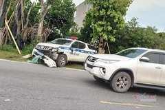 Xe tuần tra CSGT Hải Dương gây tai nạn khiến 1 nữ sinh tử vong