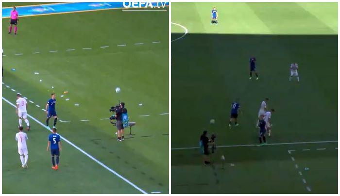 Chàng cameraman cực phẩm trong trận đấu EURO 2020