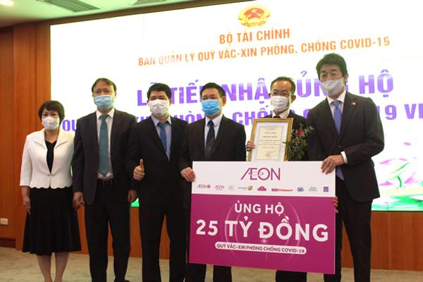 Tập đoàn AEON ủng hộ 25 tỷ đồng Quỹ Vắc xin phòng Covid-19