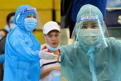 Mai Phương Thúy, H'Hen Niê mặc đồ bảo hộ kín mít đi tình nguyện