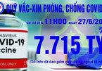 11h ngày 27/6: Quỹ vắc xin tăng thêm 2 tỷ, đạt 7.715 tỷ đồng