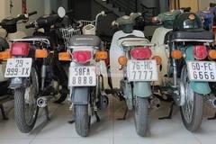 Dàn xe Honda Cub biển tứ quý cực hiếm của dân chơi Sài Gòn