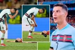 Ronaldo ném băng đội trưởng khi Bồ bị Bỉ đá khỏi EURO 2020