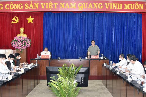 Thủ tướng Phạm Minh Chính: Bình Dương đạt được những kết quả đáng ghi nhận trong nỗ lực thực hiện 'mục tiêu kép'