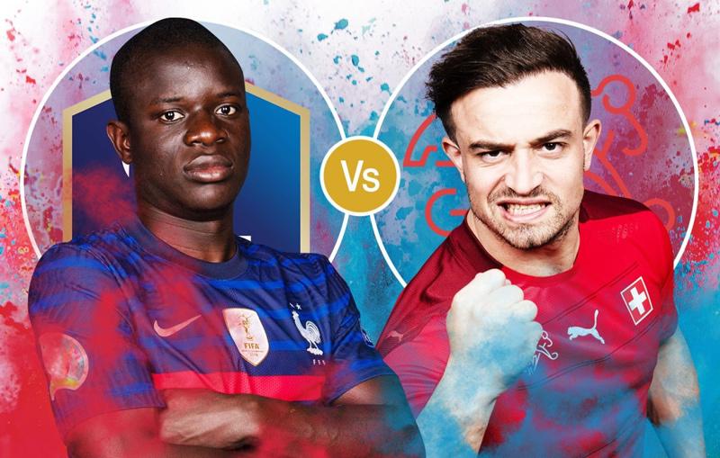 Link xem trực tiếp Pháp vs Thụy Sĩ, 2h ngày 29/6