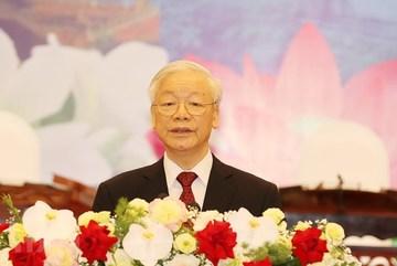 Diễn văn của Tổng Bí thư Nguyễn Phú Trọng tại chiêu đãi chào mừng Tổng Bí thư, Chủ tịch nước Lào
