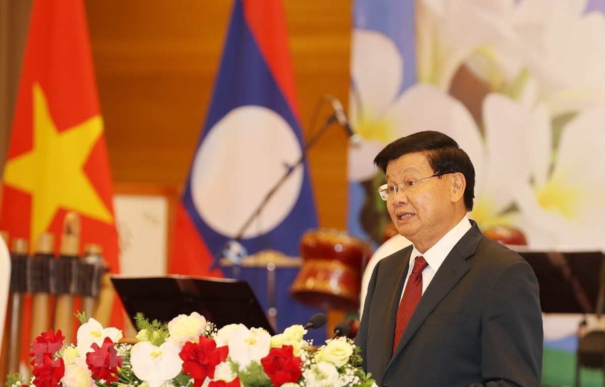 Chiêu đãi trọng thể chào mừng Tổng Bí thư, Chủ tịch nước Lào