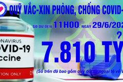 11h ngày 29/6: Quỹ vắc xin tăng thêm 3 tỷ, đạt 7.810 tỷ đồng