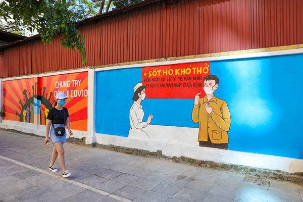 Hanoi,murals,COVID-19