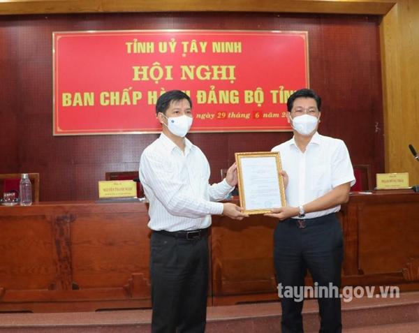 Ông Nguyễn Mạnh Hùng giữ chức Phó Bí thư Tỉnh ủy Tây Ninh