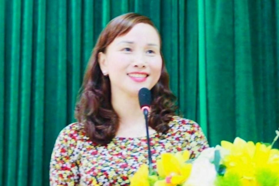 Bà Đặng Thị Quỳnh Diệp trở thành Giám đốc Sở GD-ĐT Hà Tĩnh