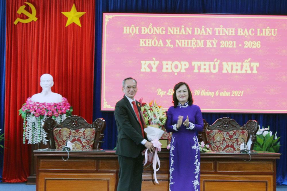 Bí thư Tỉnh ủy Bạc Liêu được bầu làm Chủ tịch HĐND tỉnh