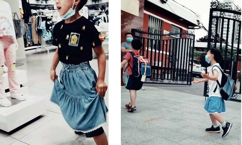 Bức ảnh cậu bé mặc váy đến trường gây tranh cãi dữ dội
