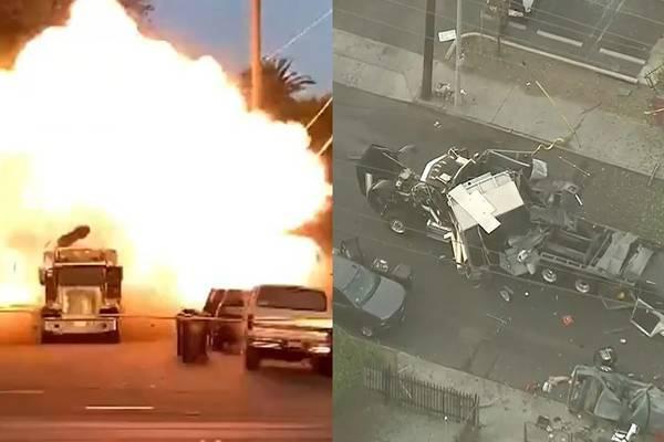 Video hơn 2 tấn pháo hoa nổ tung trong xe bọc thép ở Mỹ, 17 người bị thương