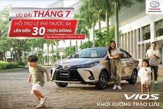 Ưu đãi đặc biệt khách mua Toyota Vios trong tháng 7