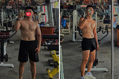 Chàng trai lột xác nhờ tập gym trong dịch