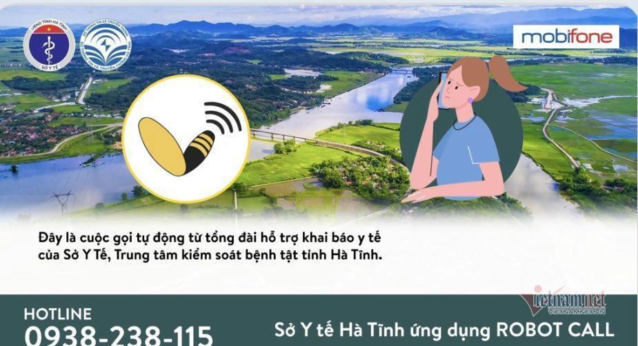 Hà Tĩnh ứng dụng hệ thống Robot call truy vết Covid-19