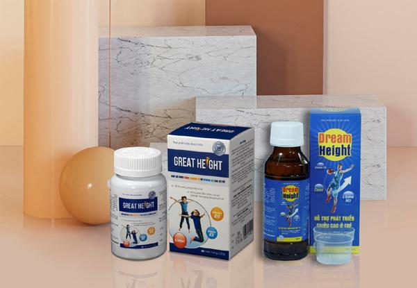 Thực phẩm bảo vệ sức khỏe Dream Height - hỗ trợ phát triển chiều cao cho trẻ